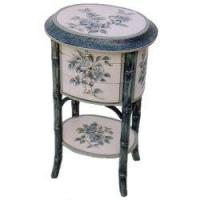 Best Hand-Painted Side Table with Three Drawers wholesale