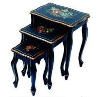Best Side Tables Furniture Nesting Tables with Hand-Painted Fruit Design wholesale
