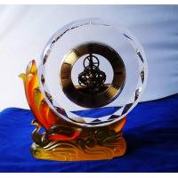 Best Office gifts crystal clock wholesale