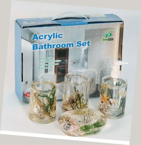Details of bathroom accessories acrylic bathroom set for Bathroom accessories acrylic