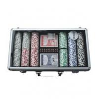China poker chip sets 300pcs Professional Poker Chip Set with Clear Top on sale