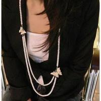 Best Fashion Necklace Pearl butterfly necklace wholesale