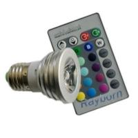 Best RGB color changing led bulb with remote control 3W/5W wholesale