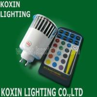 5W RGB GU10/E27 led spot lighting with remote controller wall washer dimmable