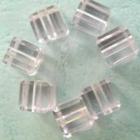 Best Glass Beads Lt.Rose Glass Cube wholesale