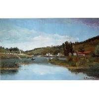 Best Impressionist(3830) The_Banks_of_the_Marne_at_Chennevieres wholesale