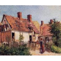 Impressionist(3830) Old_Houses_at_Eragny