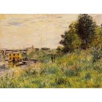 Best Impressionist(3830) The_Banks_of_the_Seine_at_the_Argenteuil_Bridge wholesale