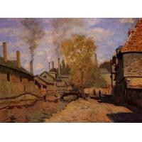 Best Impressionist(3830) Factories_at_Deville,_near_Rouen wholesale