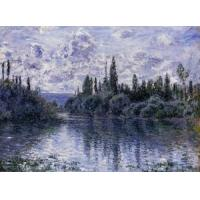Best Impressionist(3830) Arm_of_the_Seine_near_Vetheuil wholesale