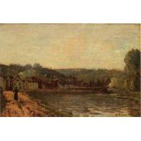 Best Impressionist(3830) The_Banks_of_the_Seine_at_Bougival wholesale
