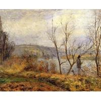 Best Impressionist(3830) The_Banks_of_the_Oise,_Pontoise wholesale