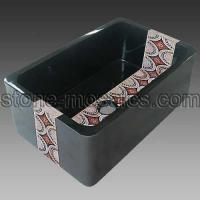 Best absolute black mosaic farm sink 16 wholesale
