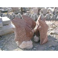 Natural Stone Animal Carvings---fishes