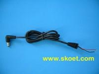 China NO.:OET-EC005TYPE:90 Degree .5*2.1mm DC plug Cable Length 0.6m-5m (Customed Specified)