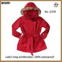 Best Womens Fur Collar Long Red Coats Red Long Parka Coats with Faux Fur for Women wholesale