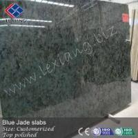 Blue jade stone, polished slabs