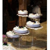 factory custom 5 tier acrylic wedding cake stand