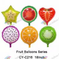 China Summer is Coming! Summer Fruit Shapes Foil Balloons Summer Balloons on sale