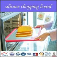Quality 2016 eco-friendly silicone edge tempered glass cutting board set wholesale