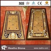 Best imperial gold marble inlay flooring design wholesale