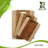 Quality 2016 hot sale high quality 3 piece bamboo cutting board set wholesale