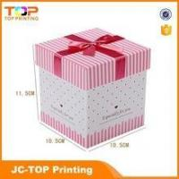 Wholesale recycled paper box / Ribbon rigid cardboard gift box