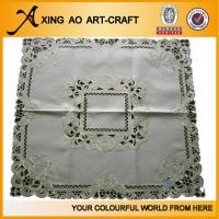 Buy cheap 100%polyester embroidered table cloth from wholesalers
