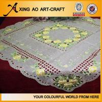 Buy cheap 100%polyester embroidered floral tablecloth from wholesalers