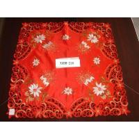 Buy cheap 100%polyester embroidered floral christmas tablecover from wholesalers