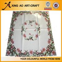 Buy cheap 100%polyester embroidered floral sofa cover from wholesalers