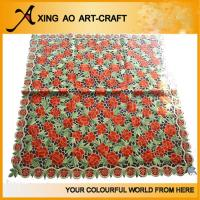Buy cheap 100%polyester embroidered floral table cloth from wholesalers