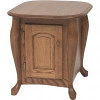 China Queen Anne Solid Oak Storage End Table  21 x 25 on sale