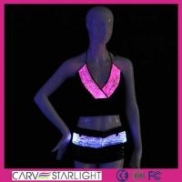 Light up women clothes YQ-11-25 luminous led top bra and pant