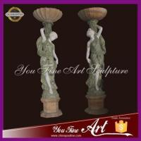 high quality marble figure planter woman planter