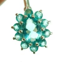 China Body Piercing (1) Blue Topaz CZ Victorian Style Silver Belly Ring, f119 on sale