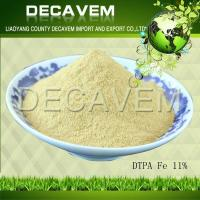 Best DTPA Fe, DTPA Iron chelated micronutrients fertilizer, yellow brown powder, Ferric 11% wholesale
