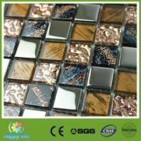 Quality Recommend Mosaic Interior decoration stainless steel mix glass mosaic tile wholesale