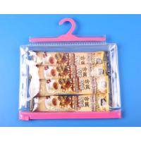 Best Optional color hook clear bag with matched zip wholesale