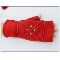 Best Shearling Leather Gloves Half Palm Shearling Leather Gloves for Women GY164 Hand Sewn,Thick Real Fur wholesale