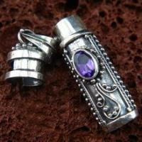 American Indian Cremation Jewelry Vintage Cremation Urn Pendant for Memorial