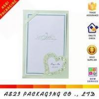 China EU style holographic foil stamping invitation card and die cut heart shape invitation card on sale