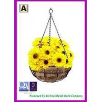 Best Hanging flower basket Hanging wire basket and Coir fiber liners Hanging planters baskets BH090015 wholesale