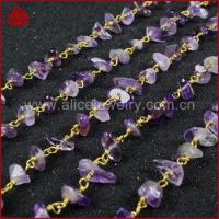 Natural amethyst Chips Stone Beads Rosary Chain For Necklace OR Bracelet DIY