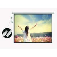 Front motorized 80 projector screen