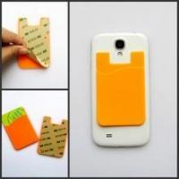 Best 3M sticker mobile phone silicone id /3m silicone wallets wholesale
