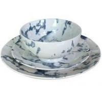 Marble Texture Ceramic Tableware Set With Bowl,Dinner Plate,Side Plate