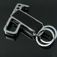 Best Brand promotional gift print logo leather keychain wholesale