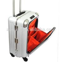 Best alumnum frame suitcase easy access pocket abs pc luggage aluminum frame suitcase wholesale