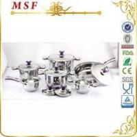 Best MSF Surgical 12pcs Stainless Steel Cookware With Color Silicon On Handle & Knob MSF-3829 wholesale